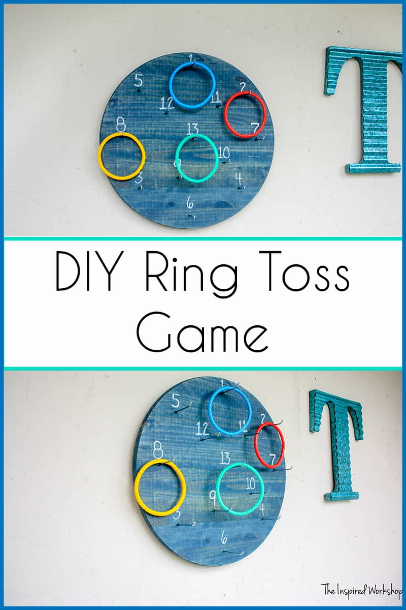 DIY Ring Toss Game - Backyard games are always fun for family and friends! This diy ring toss game is no exception! There are so many ways to play and it is so easy to build! #outdoorgames #summerfun #familytime
