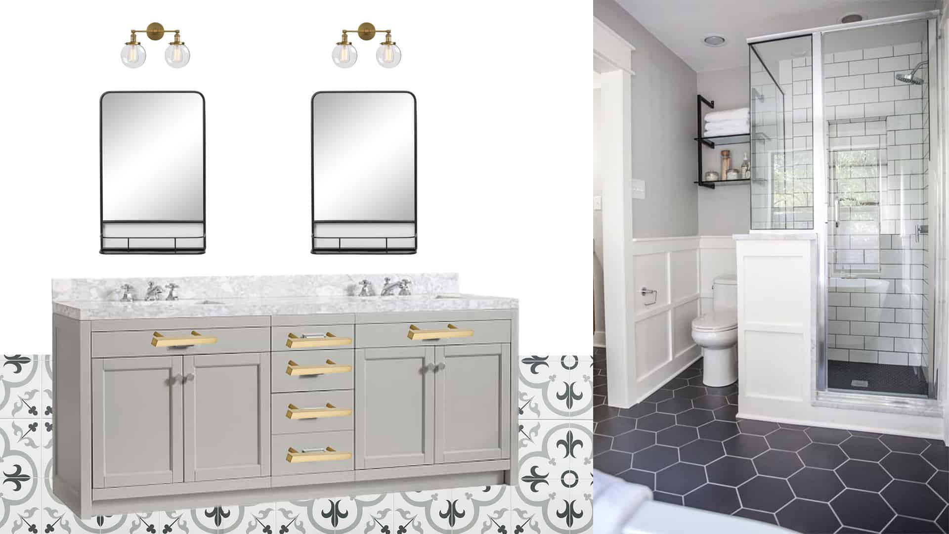 DIY Master Bathroom Renovation - One Room Challenge