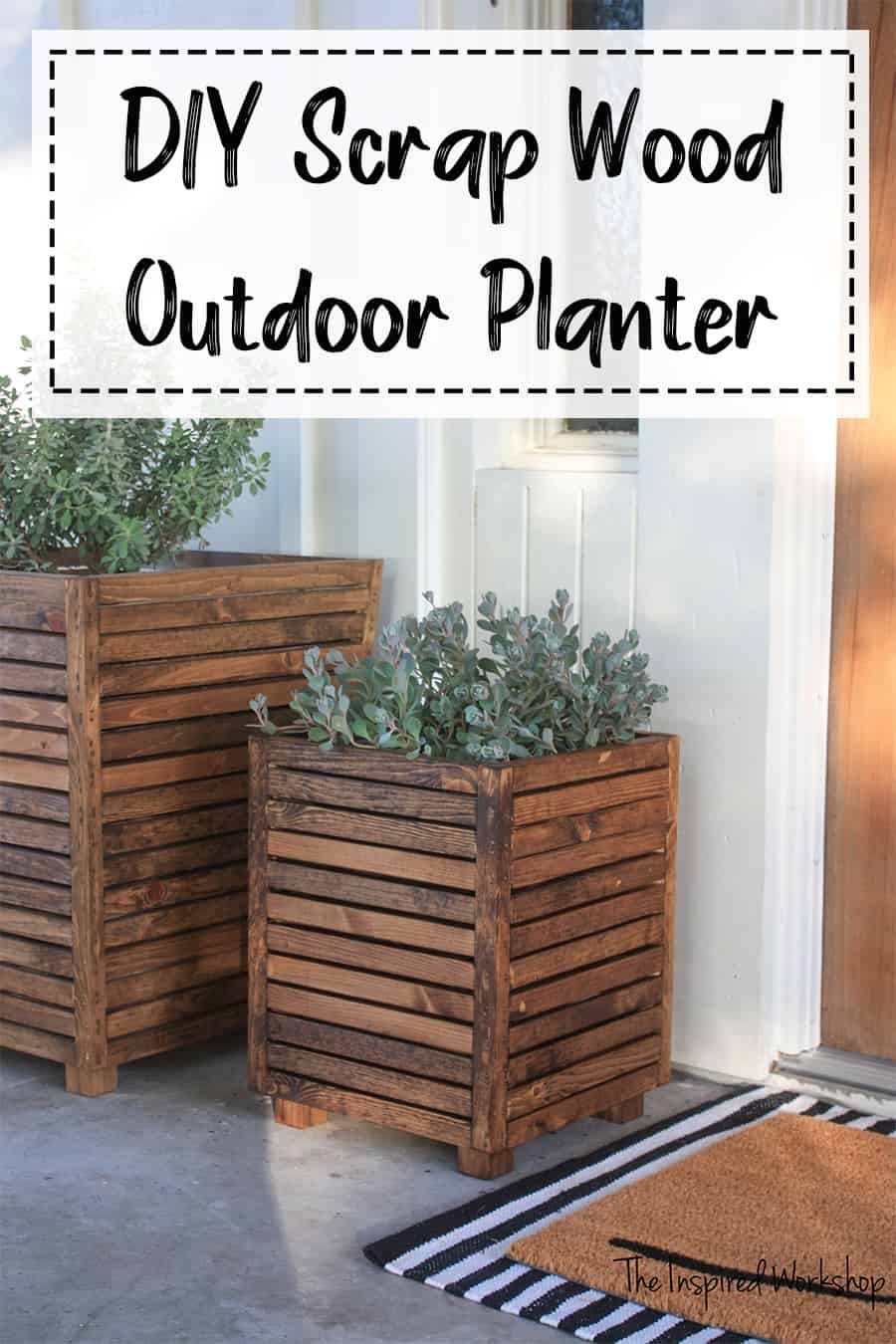 DIY Outdoor PLanter made with scrap wood