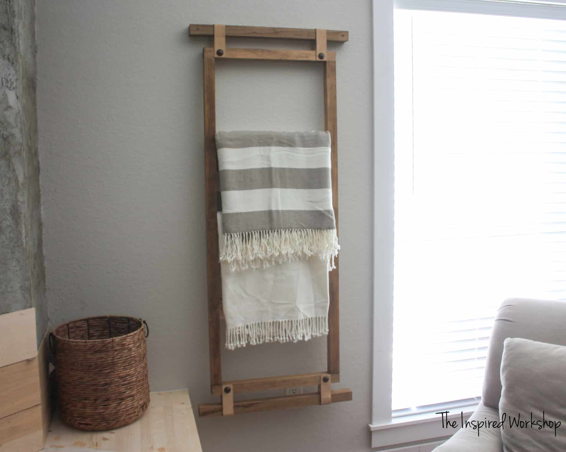 Diy Wall Blanket Ladder The Inspired Workshop