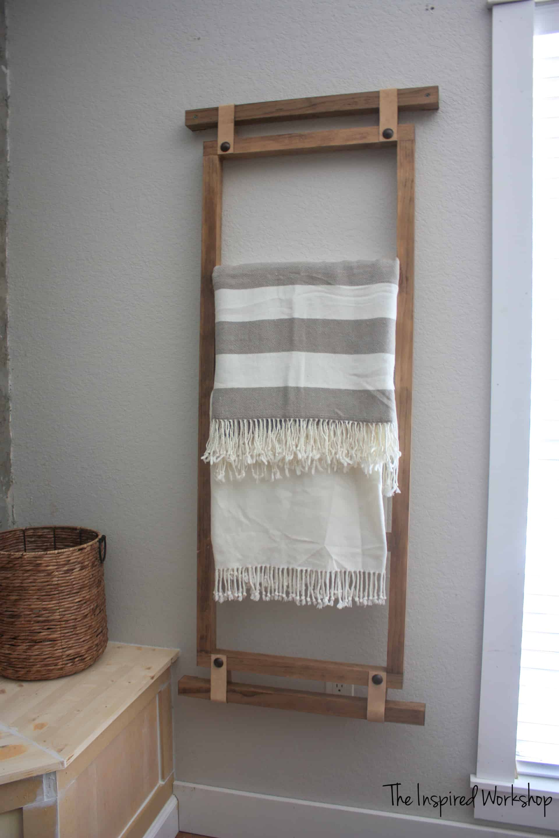DIY Wall hanging Blanket Ladder