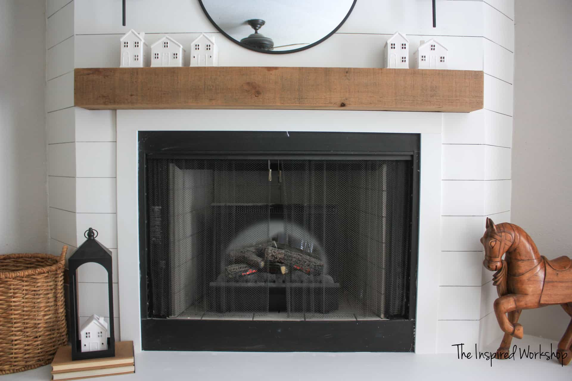 Fireplace makeover up close