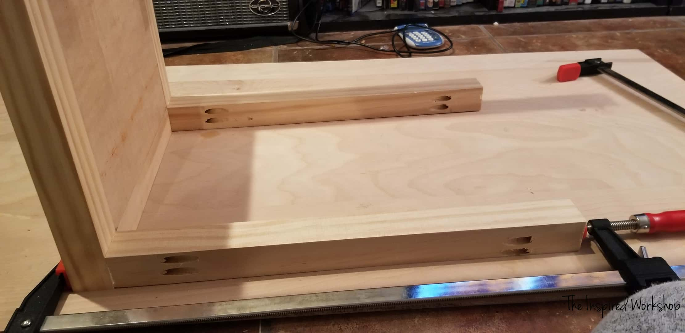 DIY Firewood Holder - Adding the upright legs