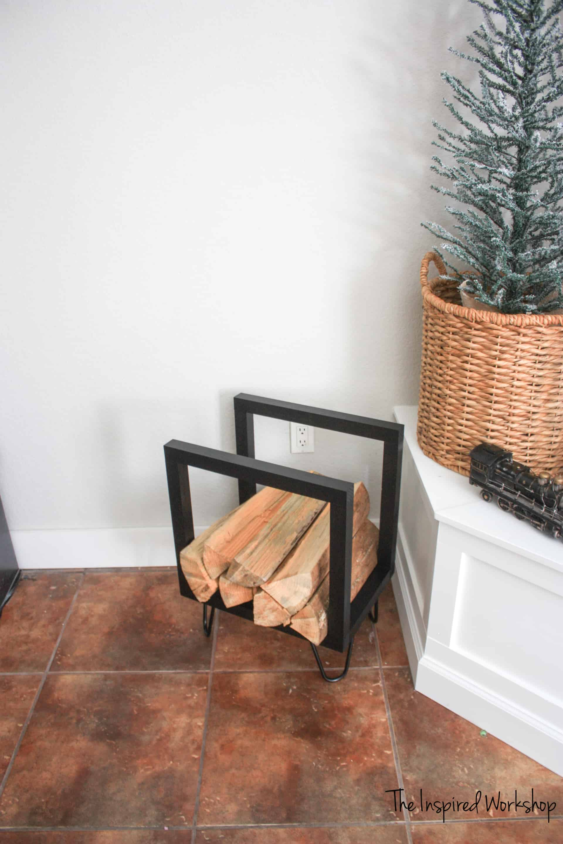 DIY Indoor Firewood Holder