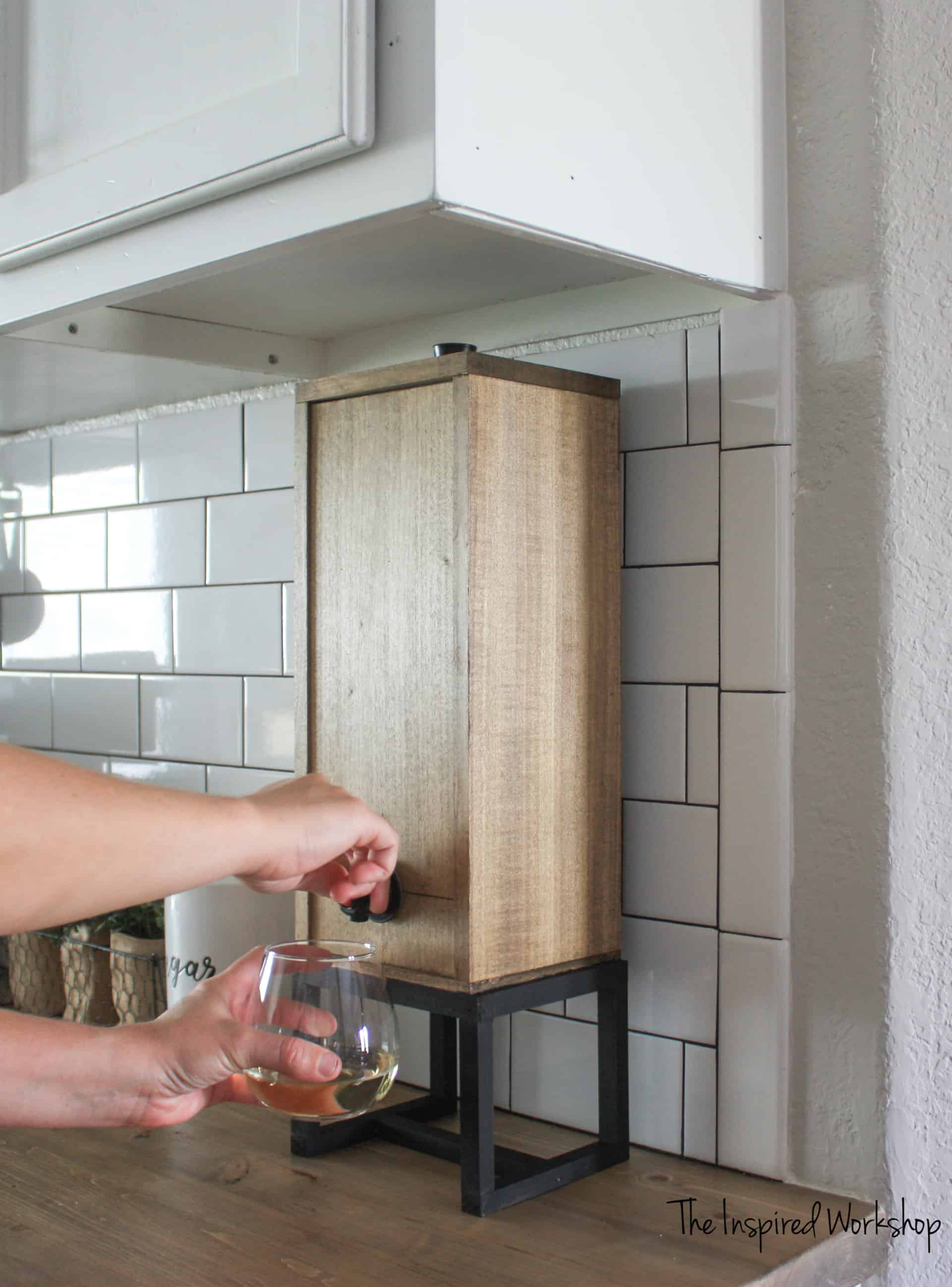 Dispensing Wine from the DIY Wine Dispenser