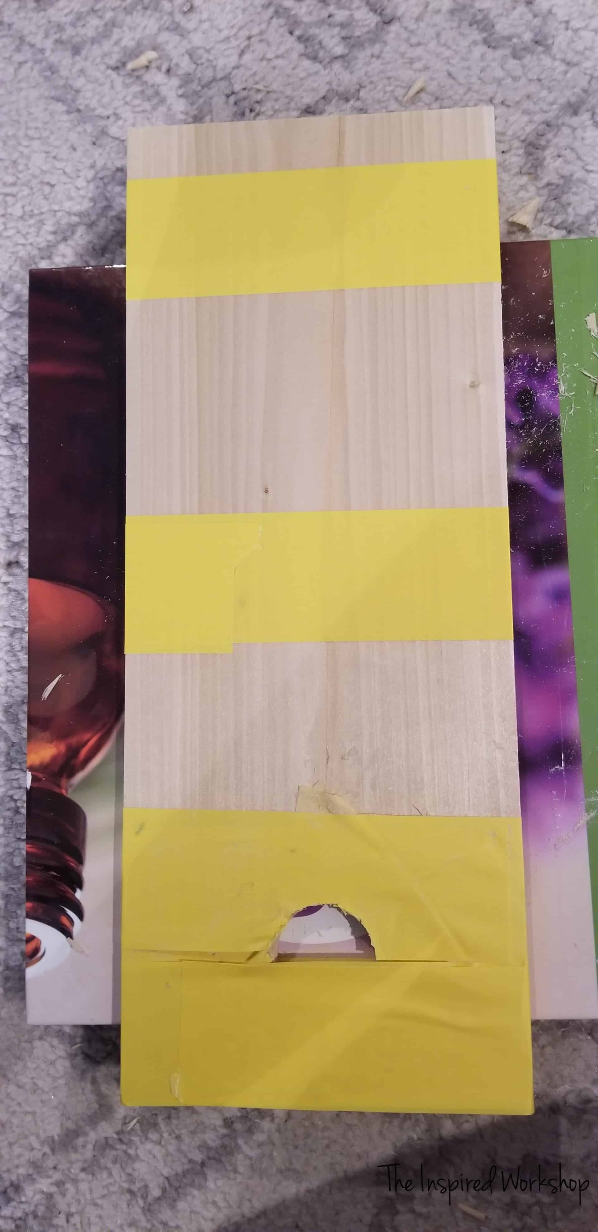 Gluing the damaged board
