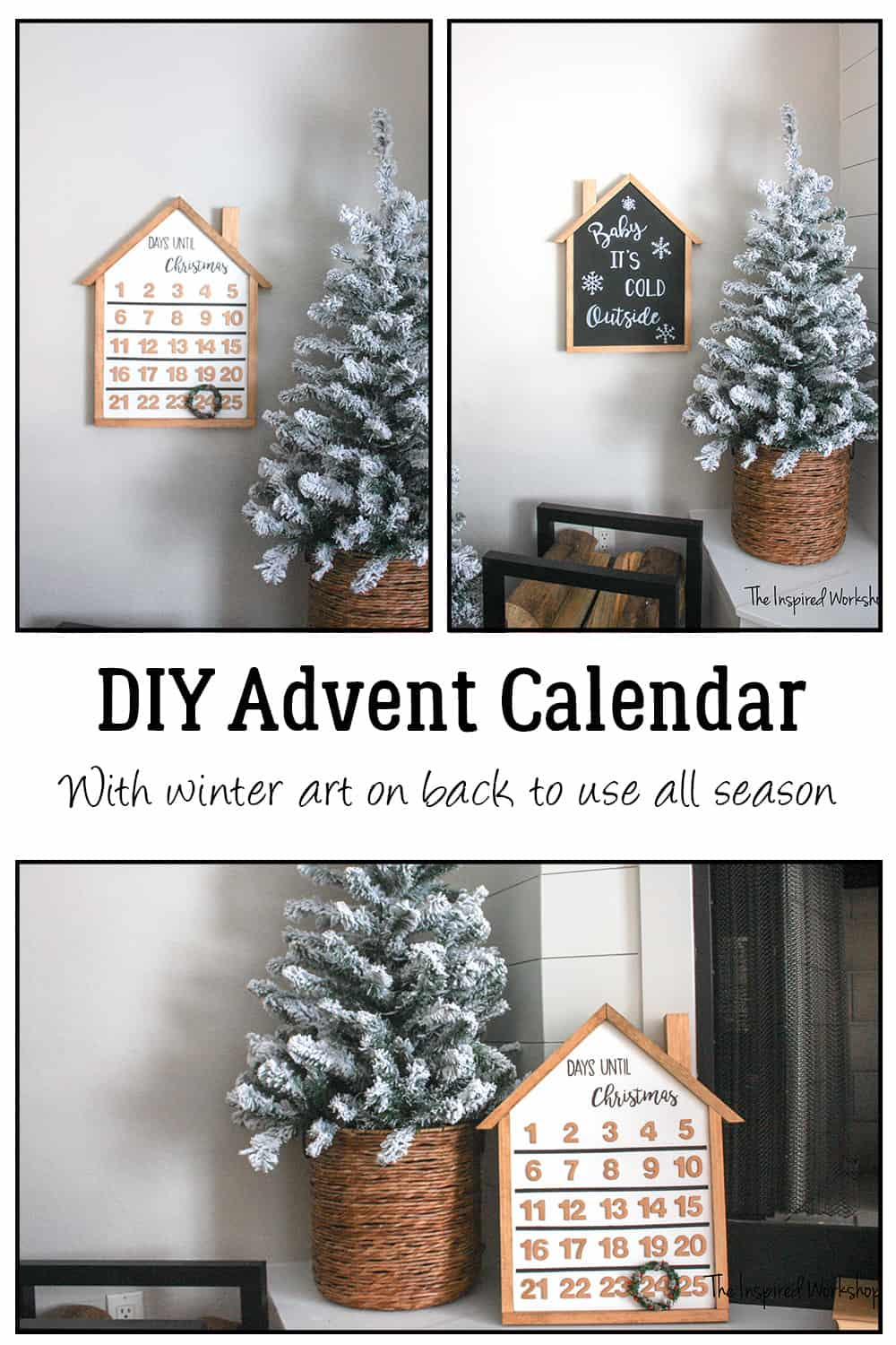 DIY Advent Calendar - Winter Baby It's Cold Outside Sign