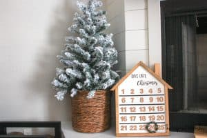 DIY Wooden House Advent Calendar
