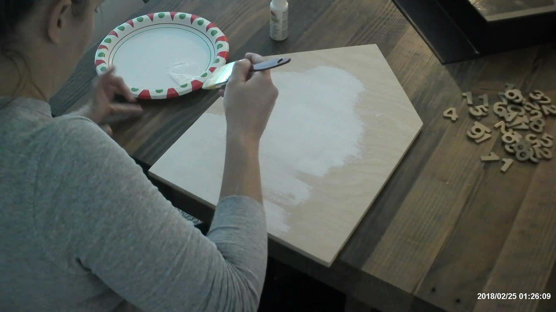 Painting the advent calendar