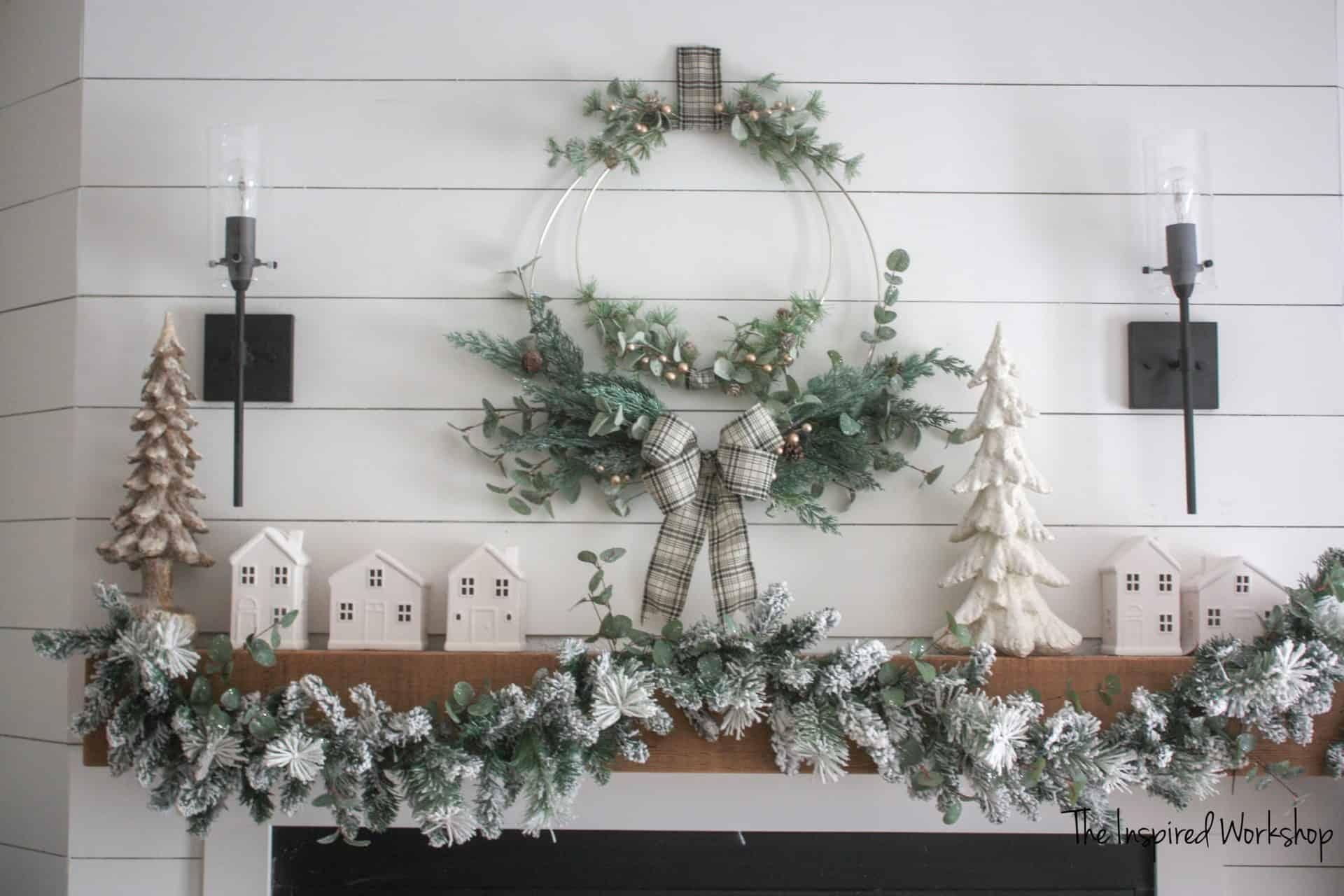 DIY Winter Christmas Wreath
