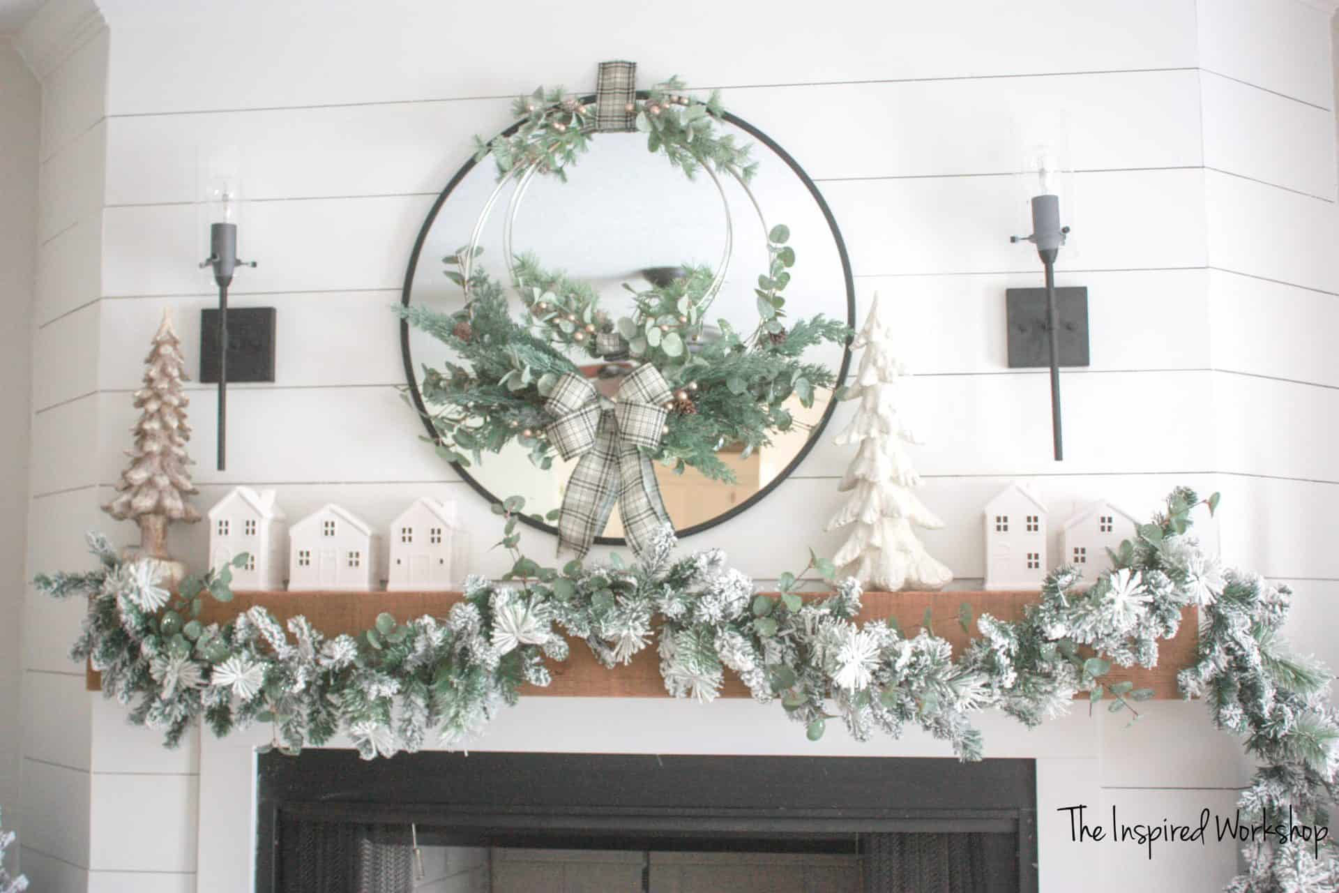 DIY Christmas Wreath that doubles as a winter wreath