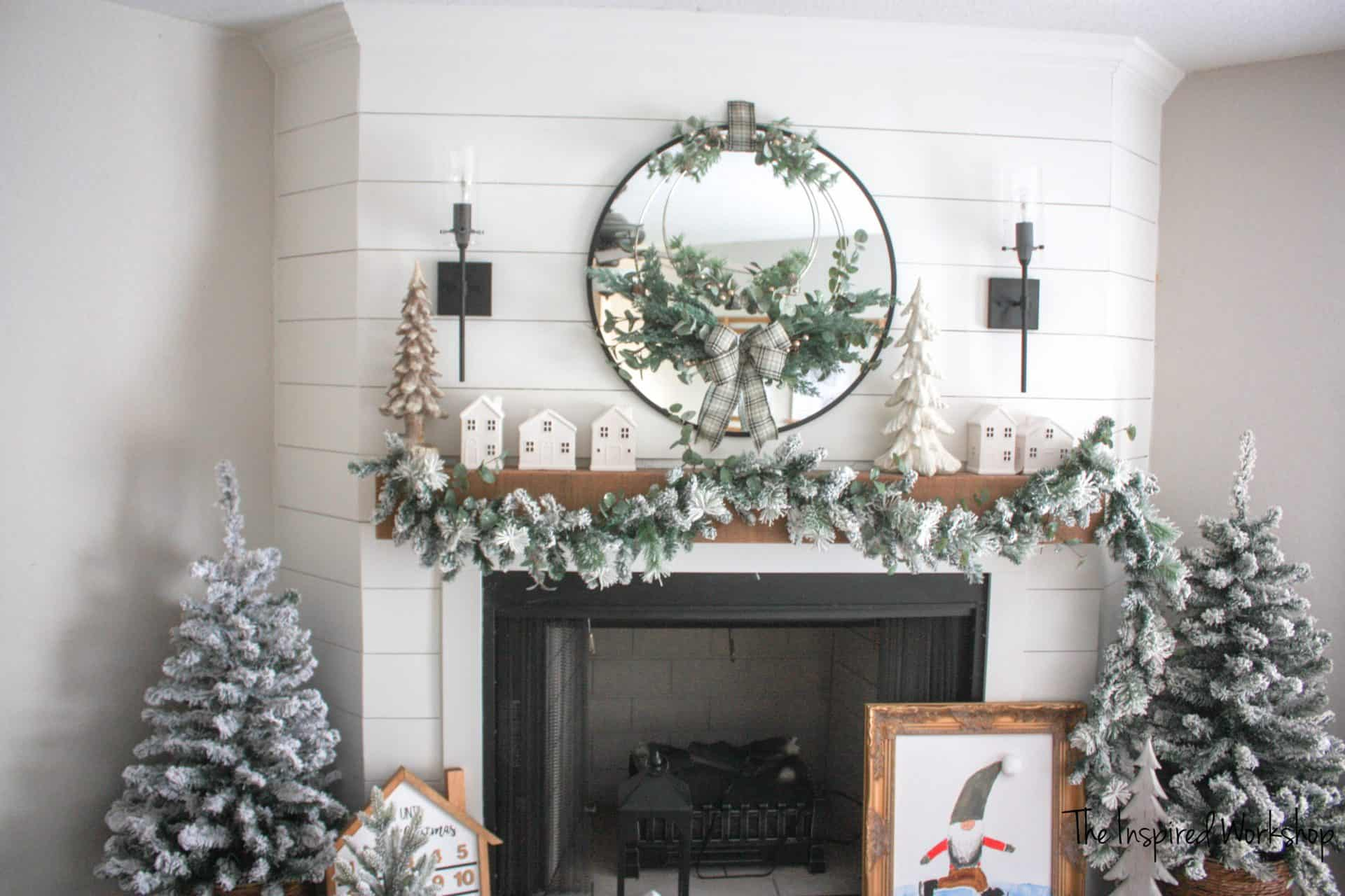 DIY Metal Hoop Christmas Wreath