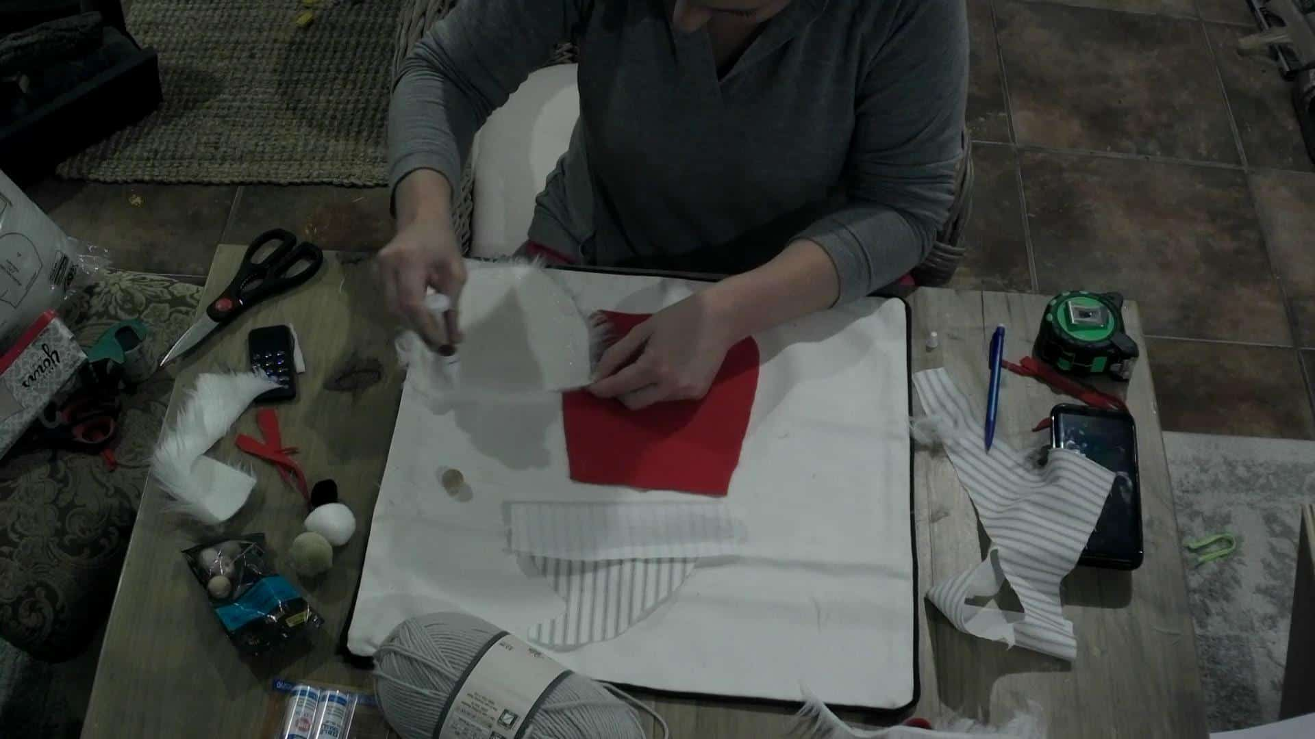 DIY Christmas Gnome Pillow cover