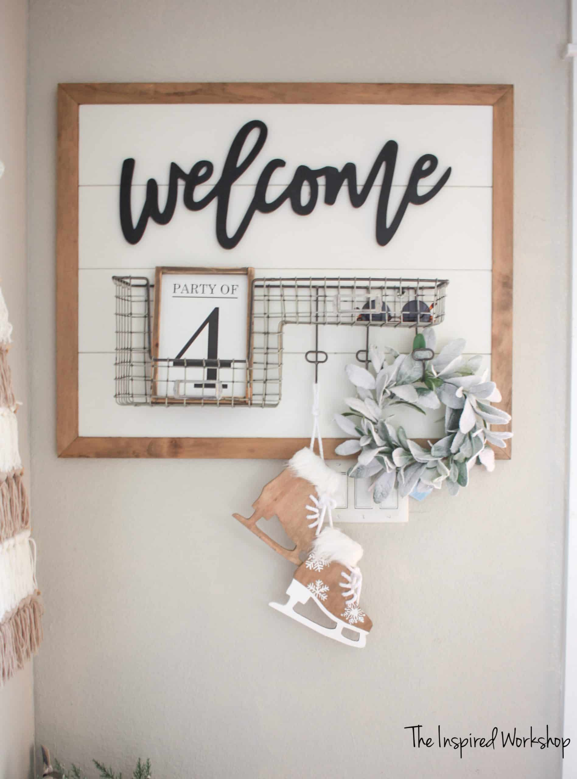 DIY Christmas Ice Skate Decor