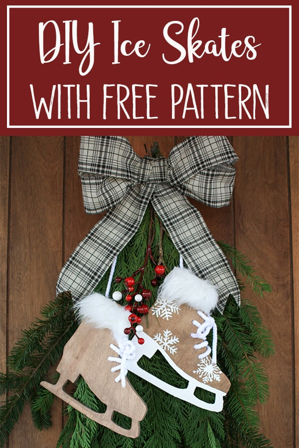DIY Ice Skate Decor for Wreath