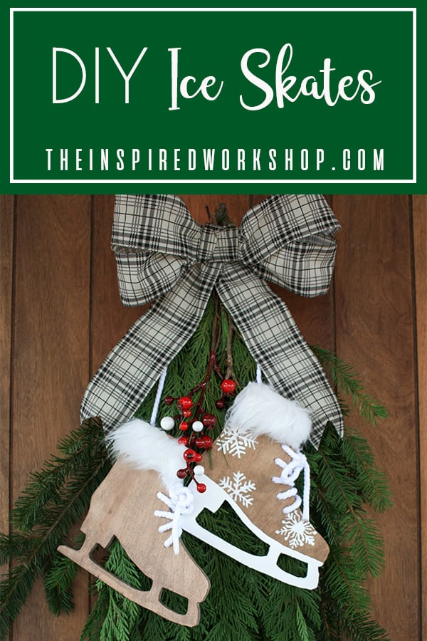 DIY Ice Skate Winter Decor
