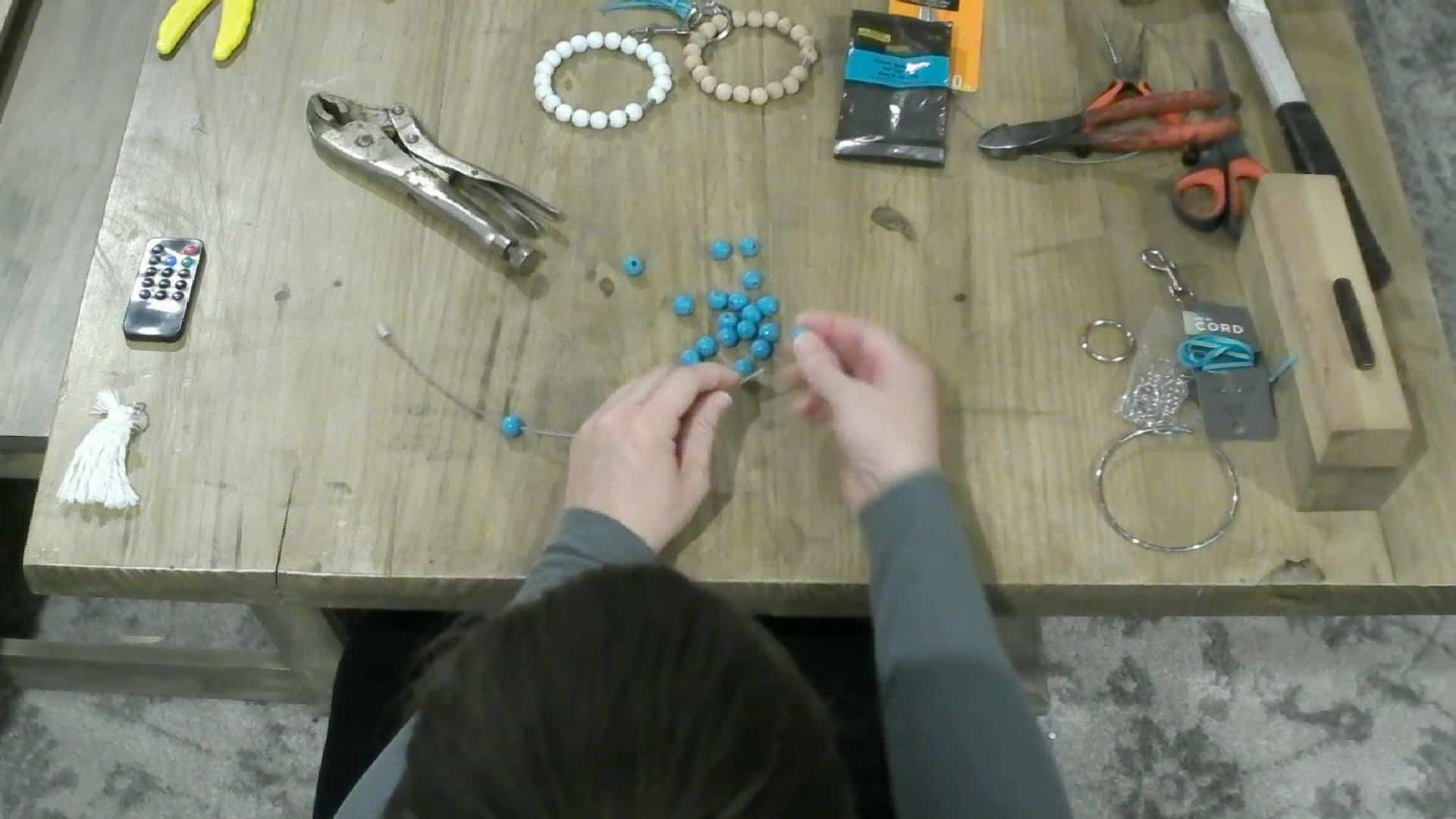 Stringing the beads