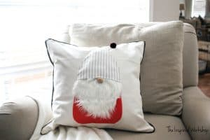 DIY Christmas Gnome Pillow Cover