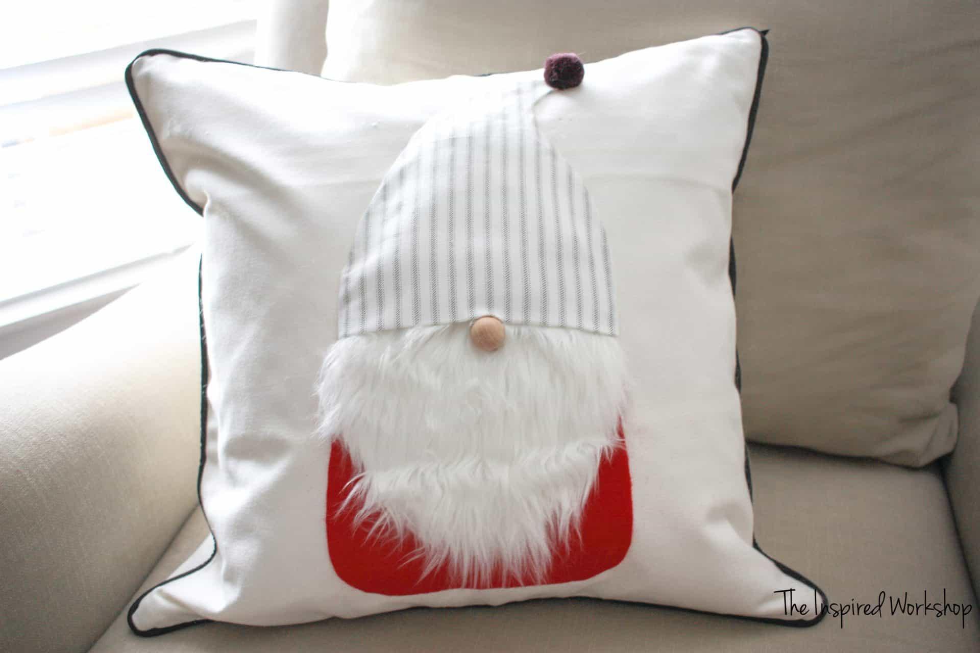 DIY Gnome Pillow Cover