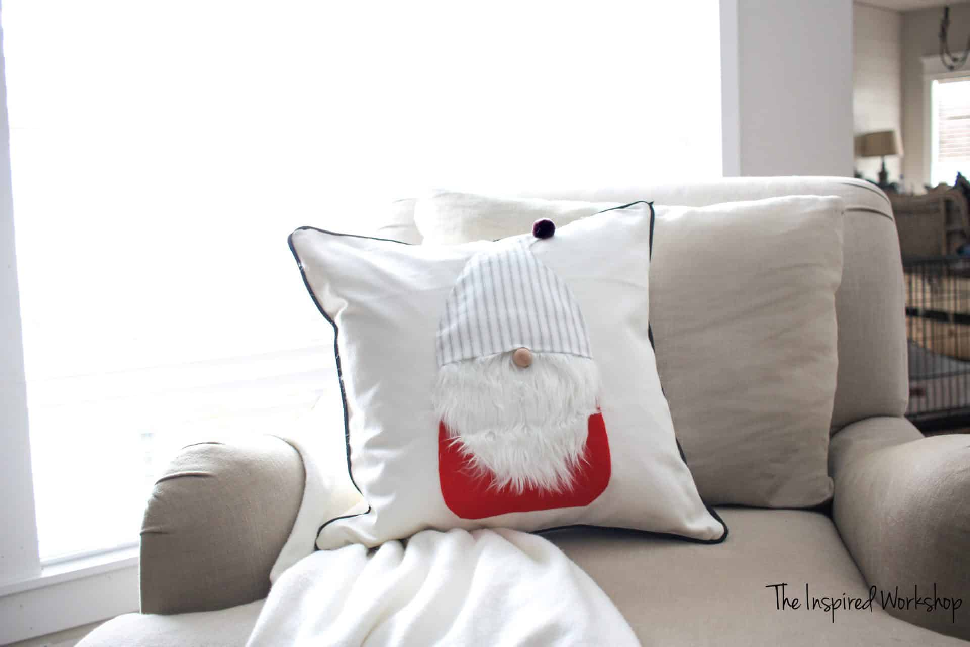 DIY Gnome Pillow Cover