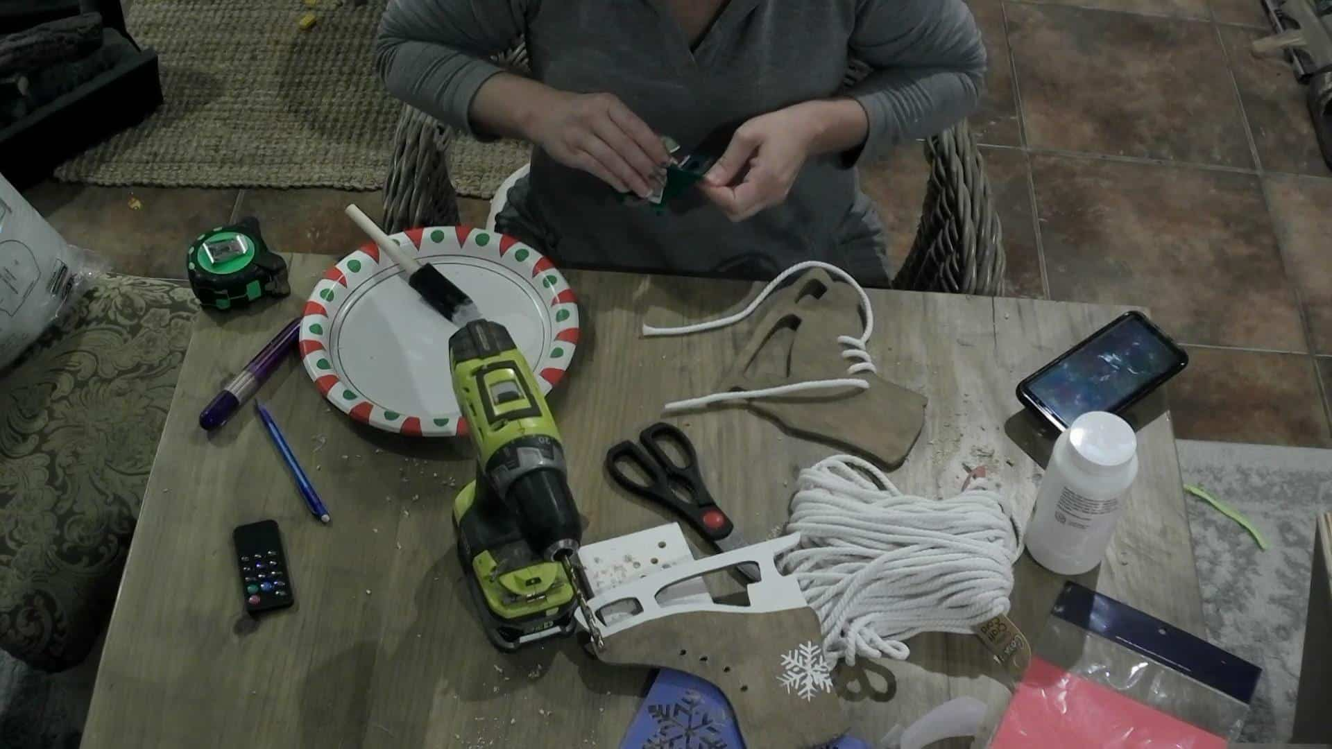 Lacing the DIY Ice Skates