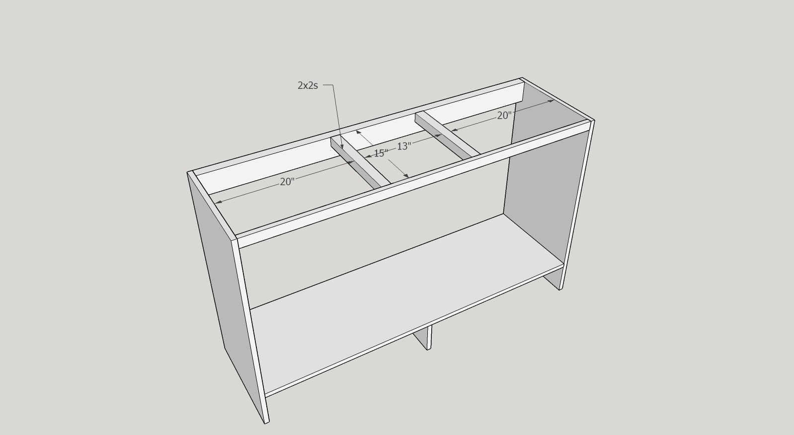 DIY Coffee Bar - building the frame of the cabinet