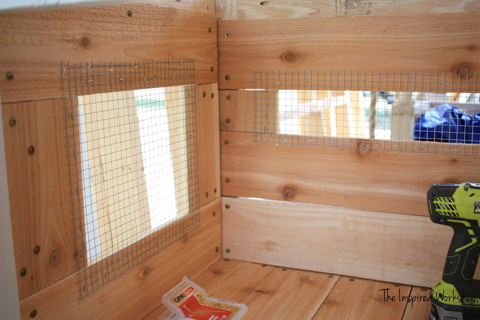 DIY Chicken Coop - making hardware cloth windows