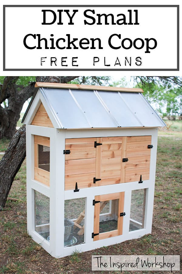 DIY Small Chicken Coop - Free Plans