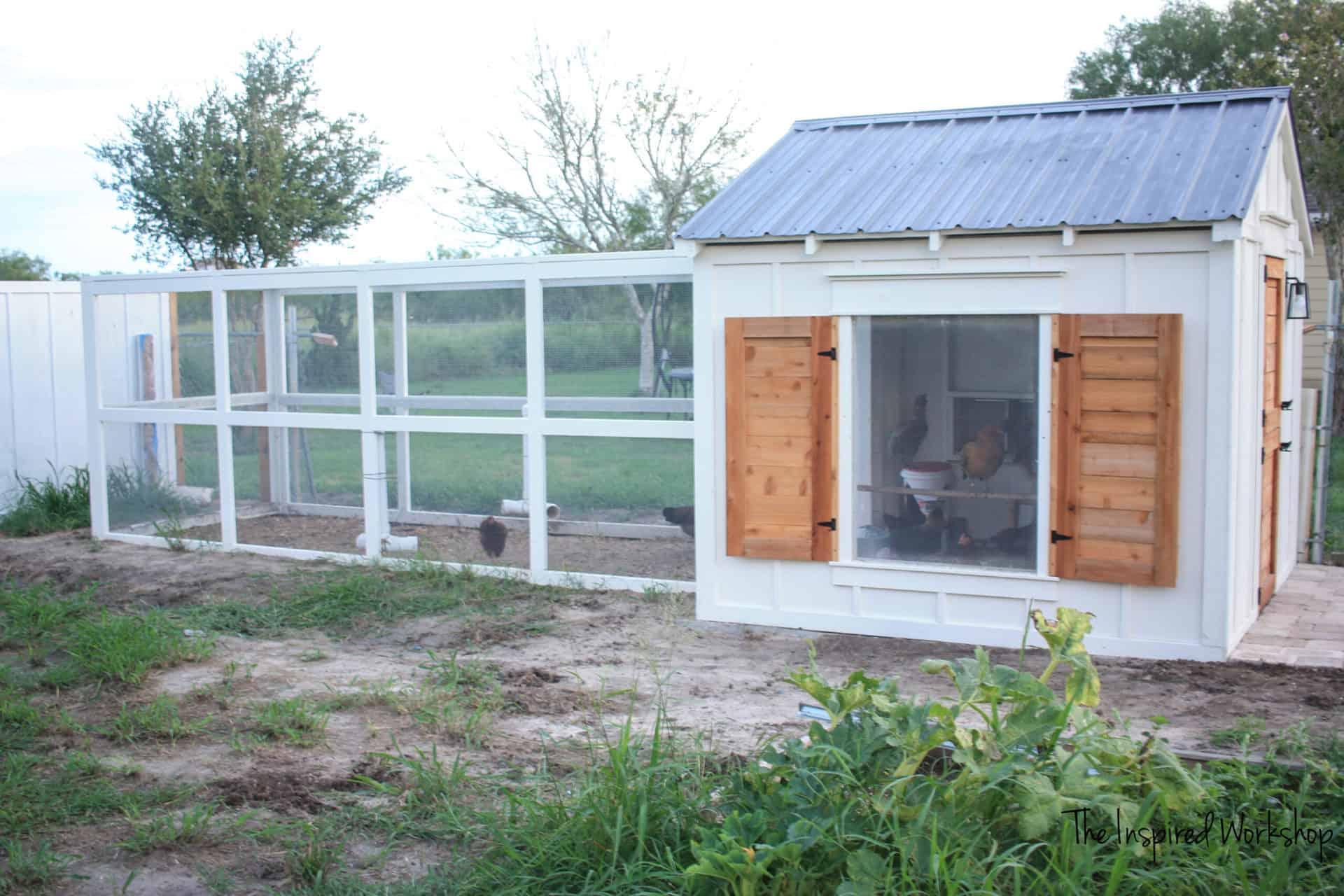 DIY Chicken Coop Run PLans