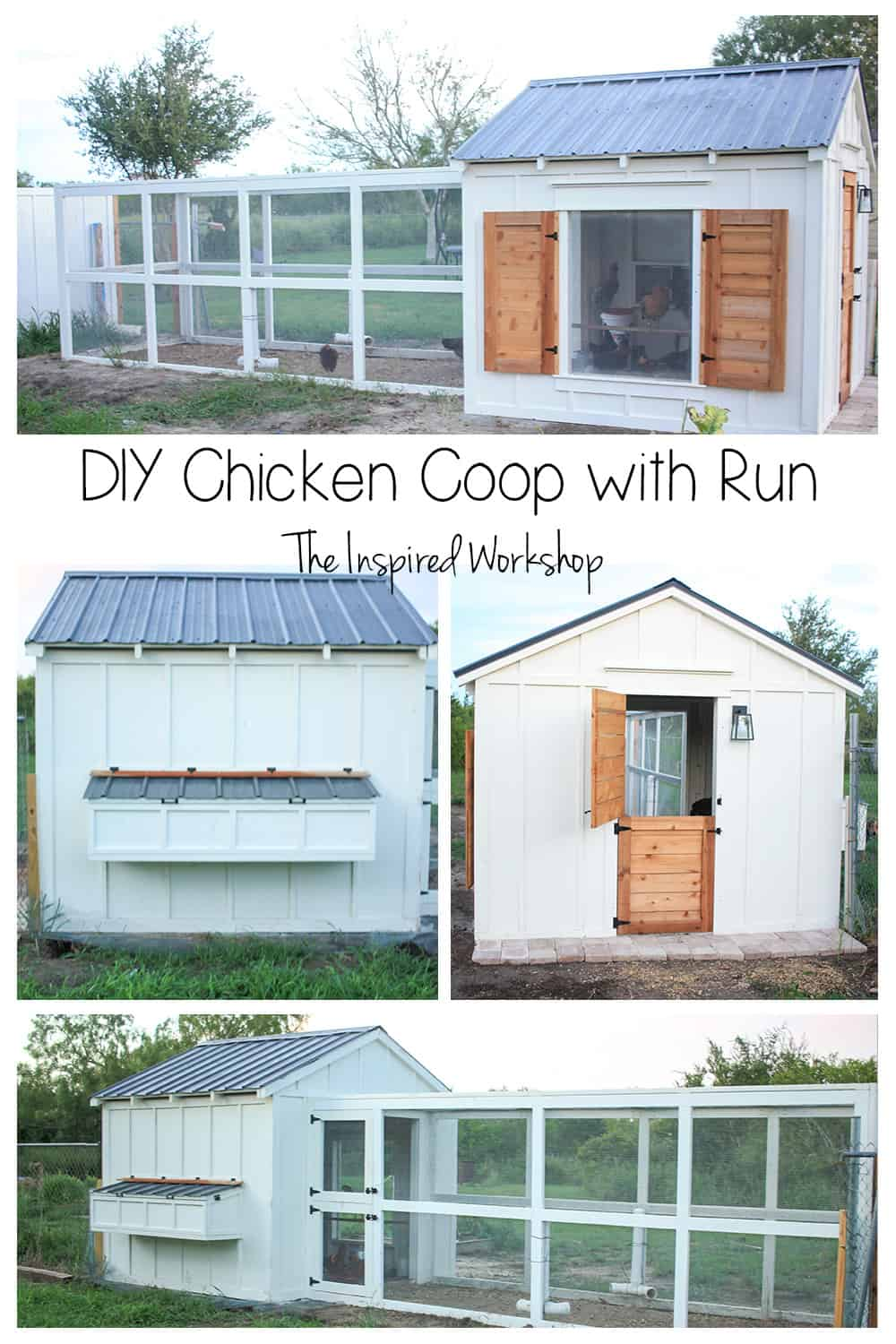 DIY Chicken Coop Run Plans