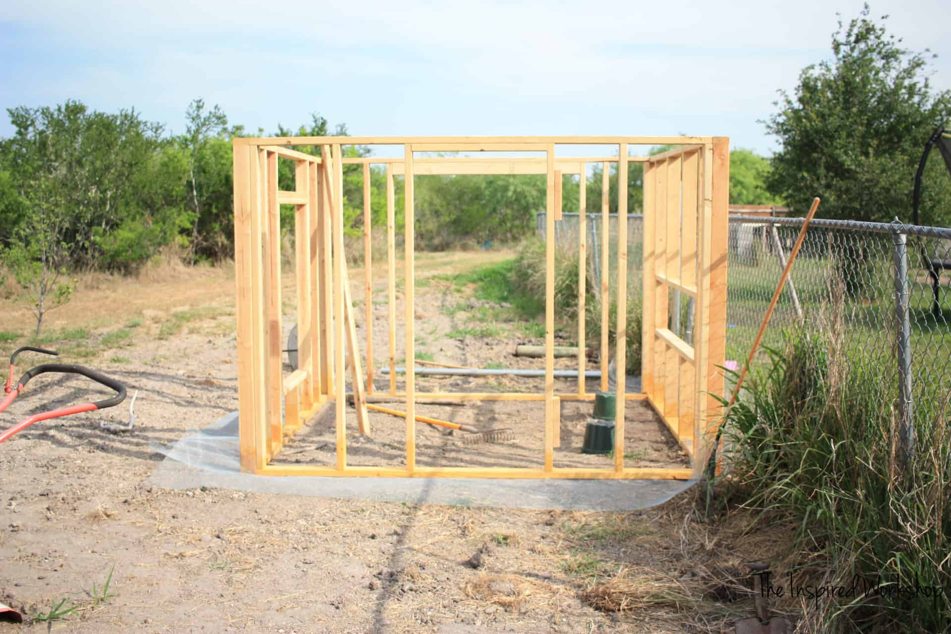 Framing the DIY Large Chicken Coop