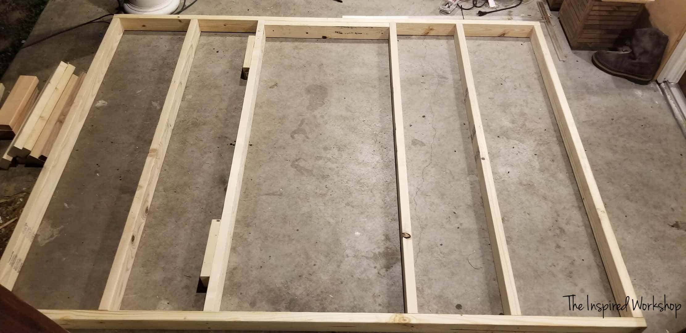 Framing out the chicken coop walls