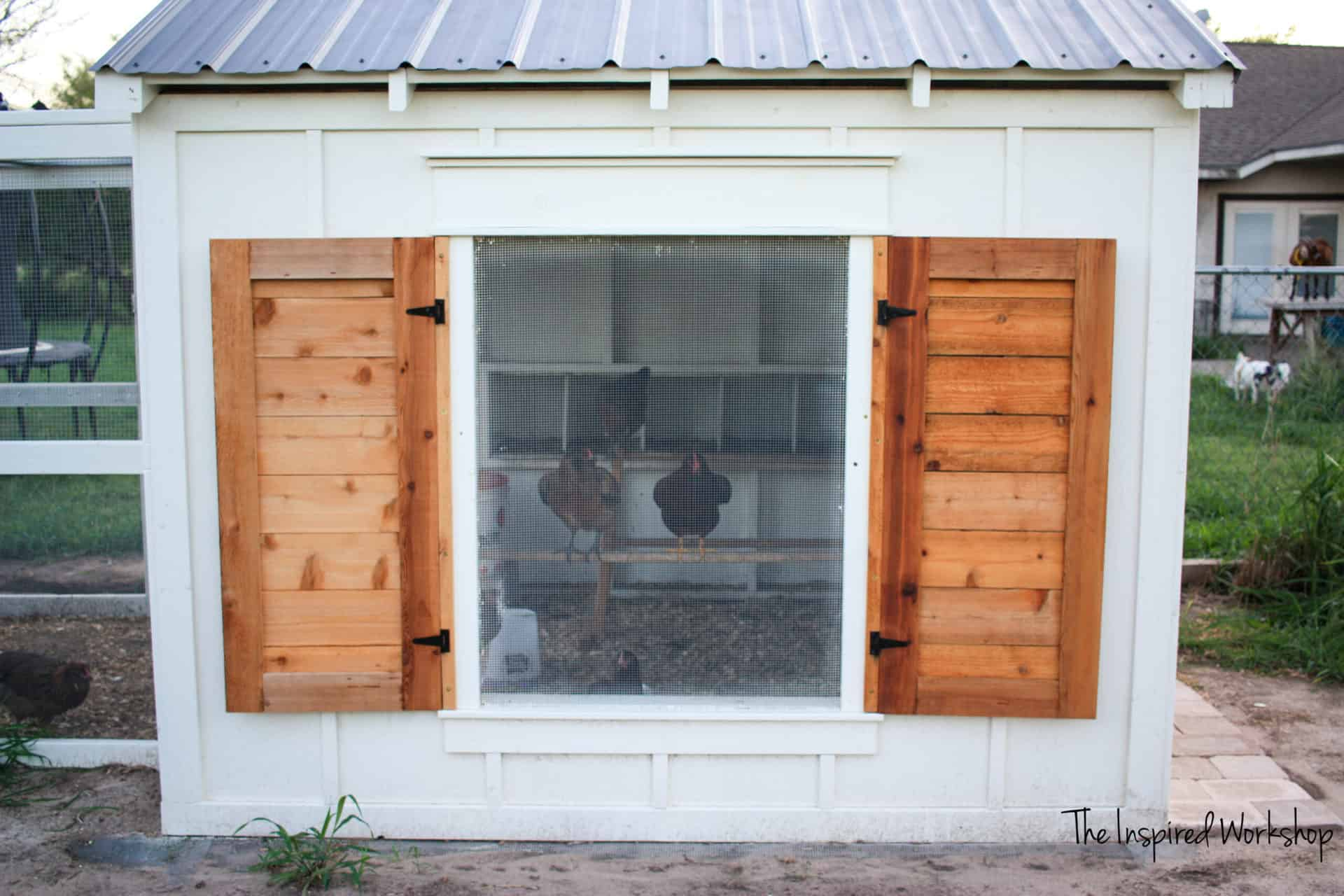 DIY Shutters for Chicken Coop