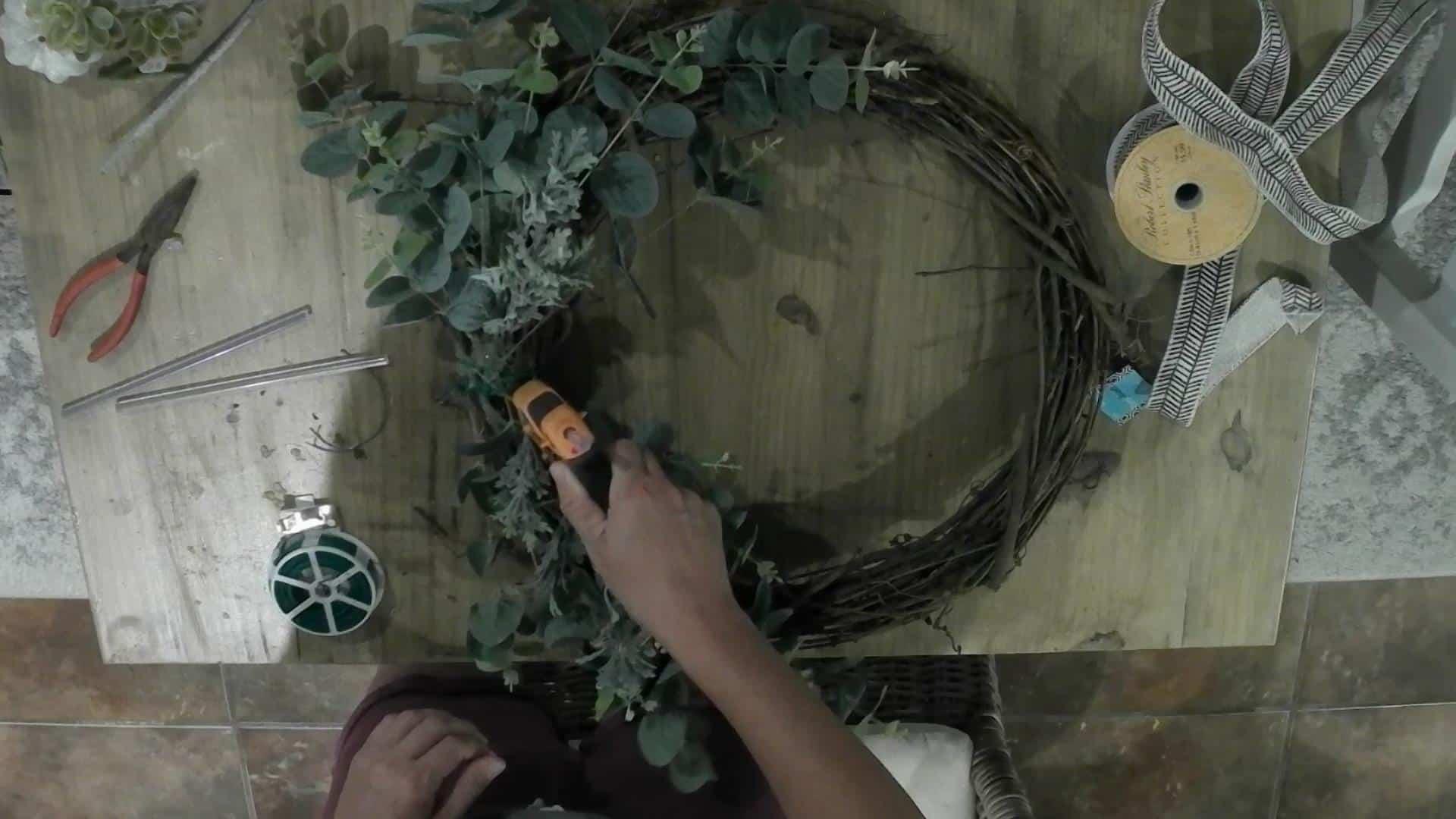 DIY Fall Pumpkin Wreath
