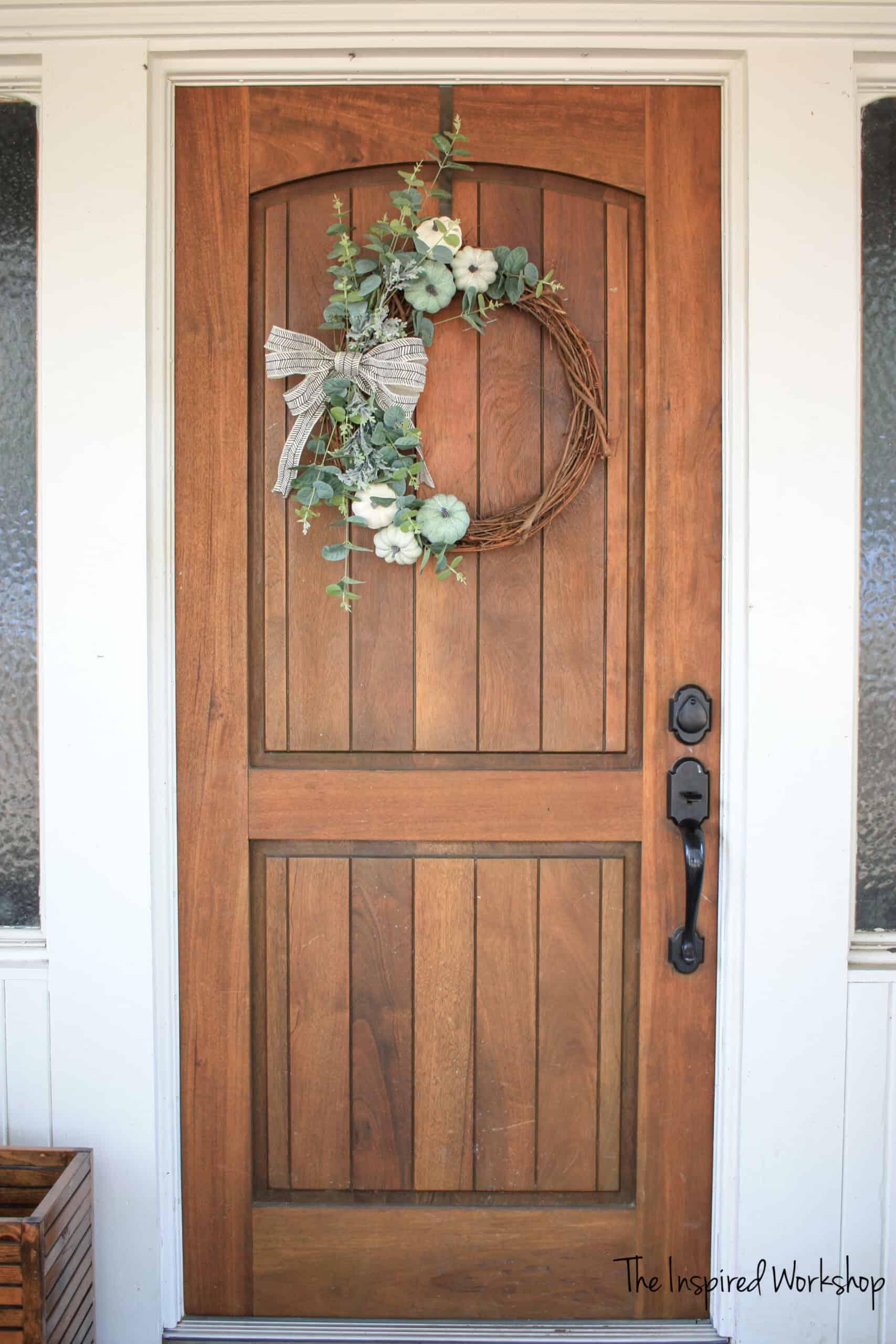DIY Fall Front Door Wreath
