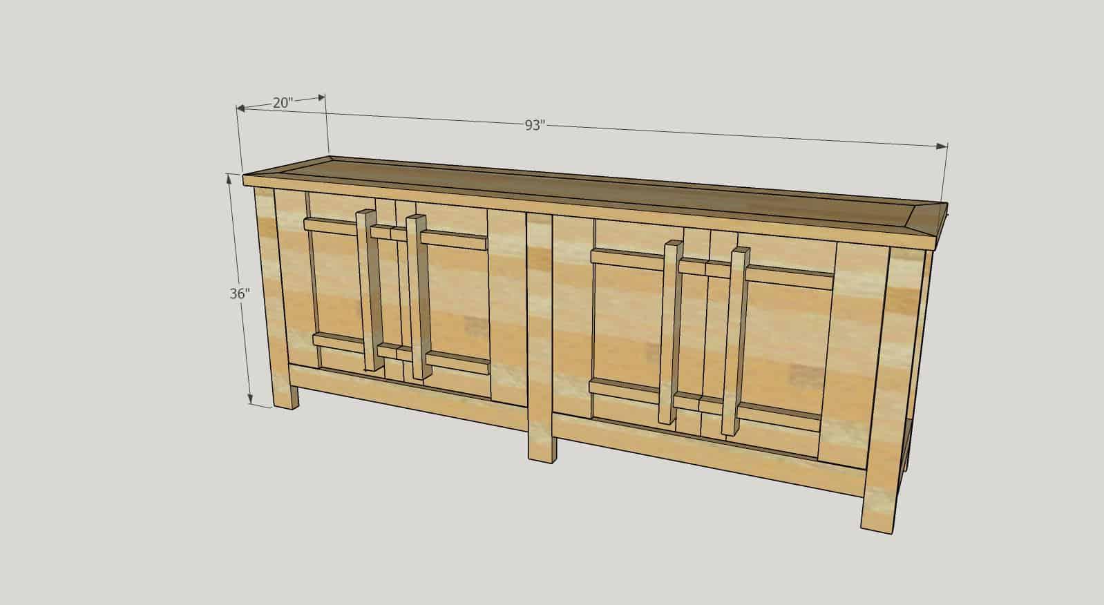 DIY TV stand / Media Cabinet