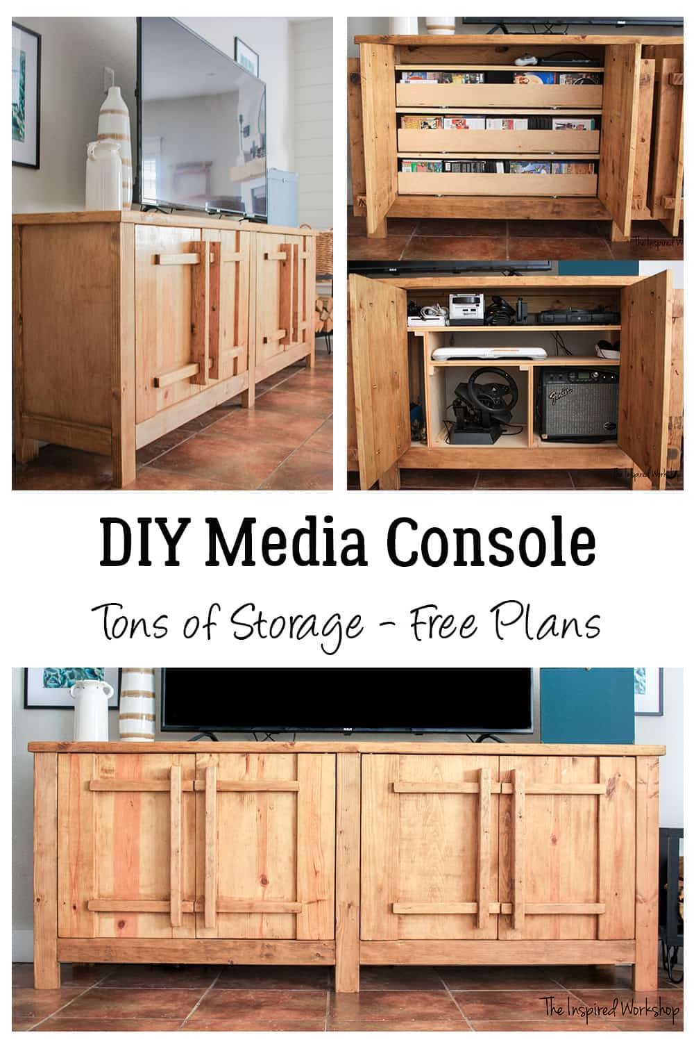 DIY TV Stand - Media Console