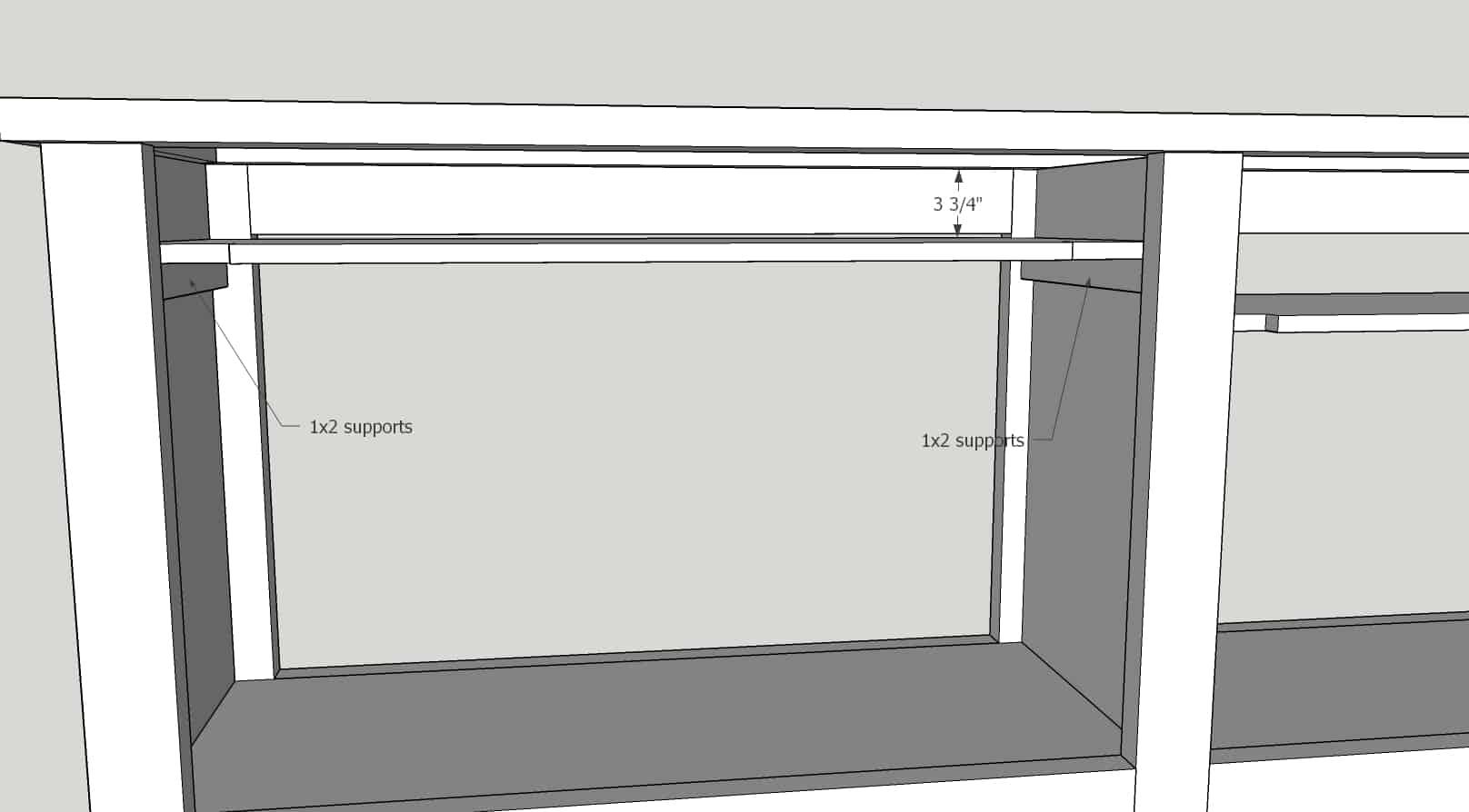 DIY TV Stand - Media Cabinet