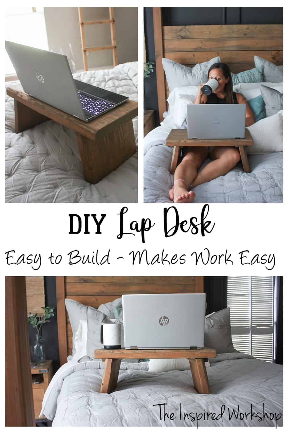 DIY Lap Desk - Quick and easy build to help you get work done from bed!