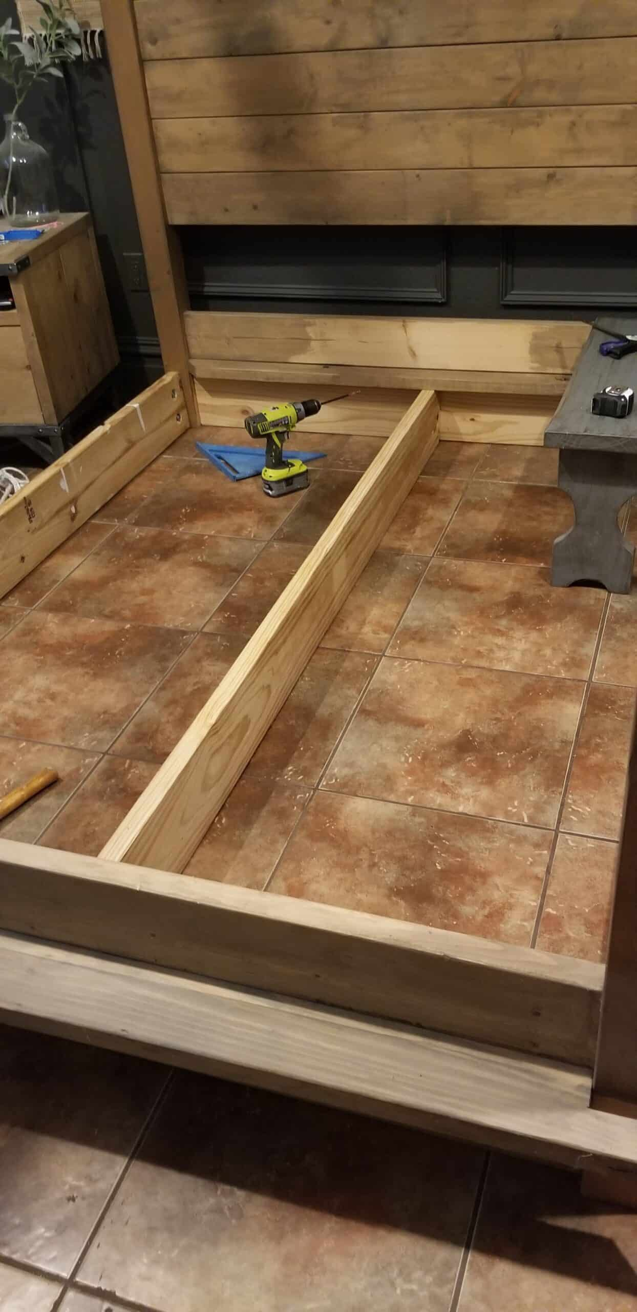 DIY Queen Bed Frame - Building the supports