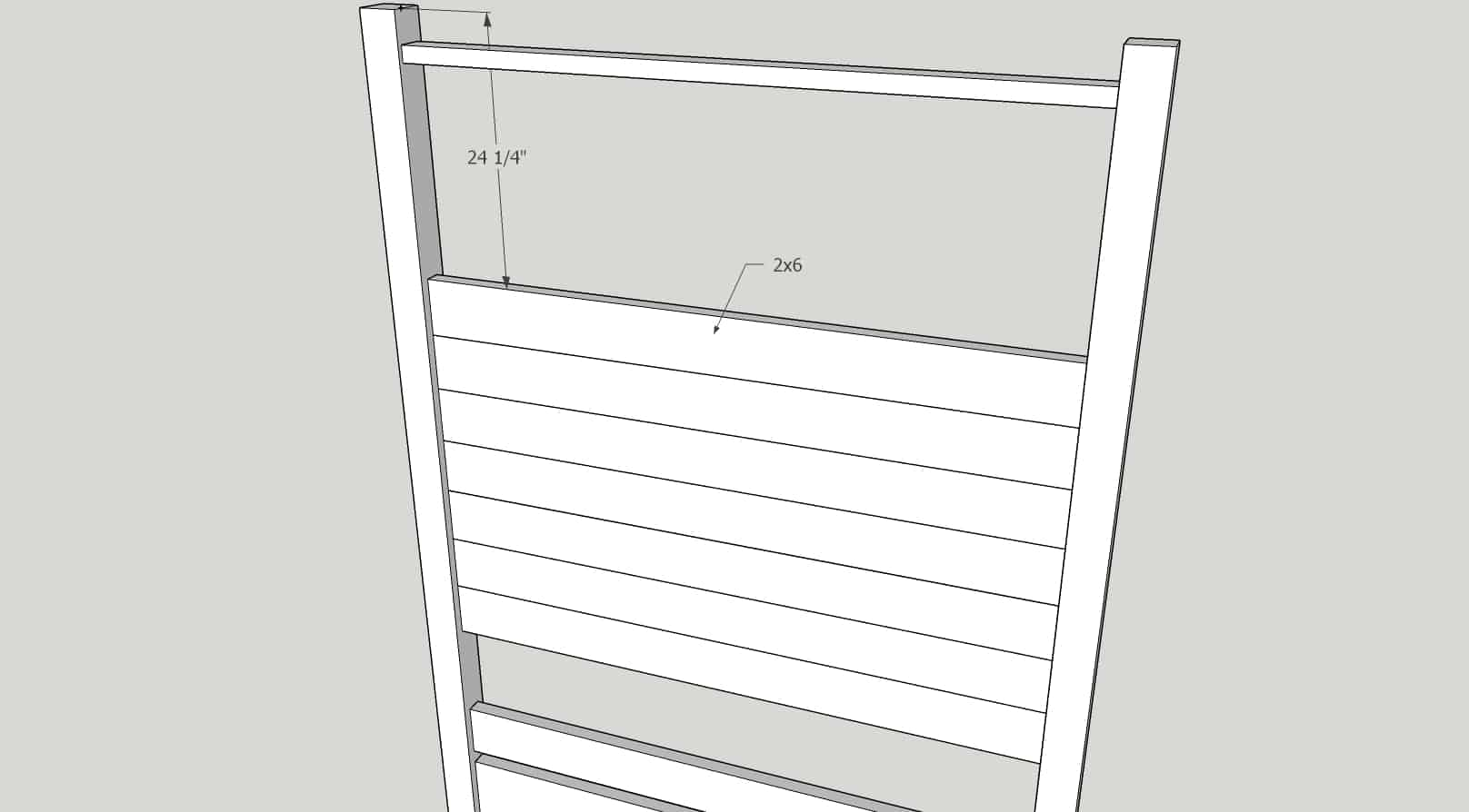 How to build the headboard of the DIY queen bed frame