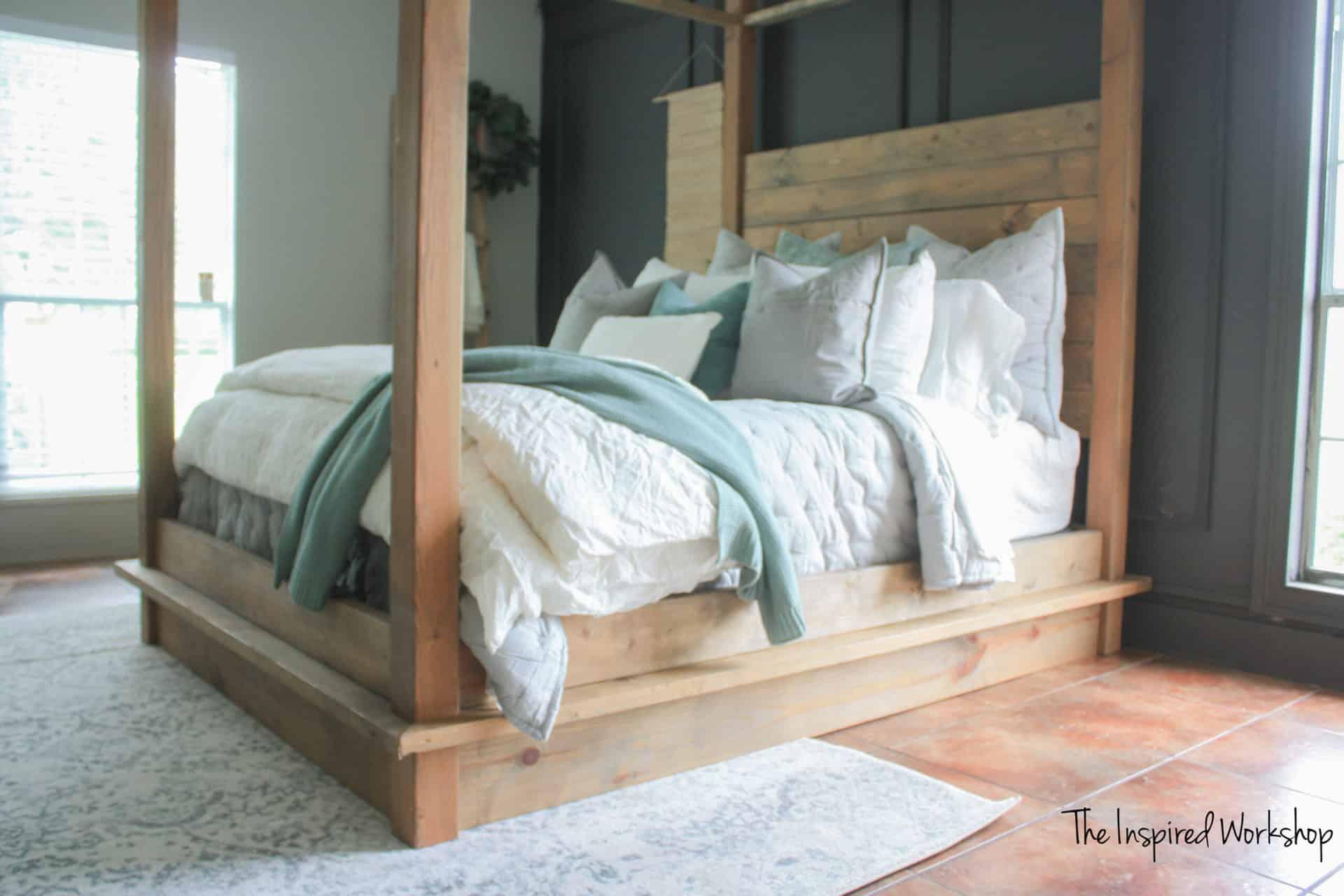 DIY Queen Four Post Bed
