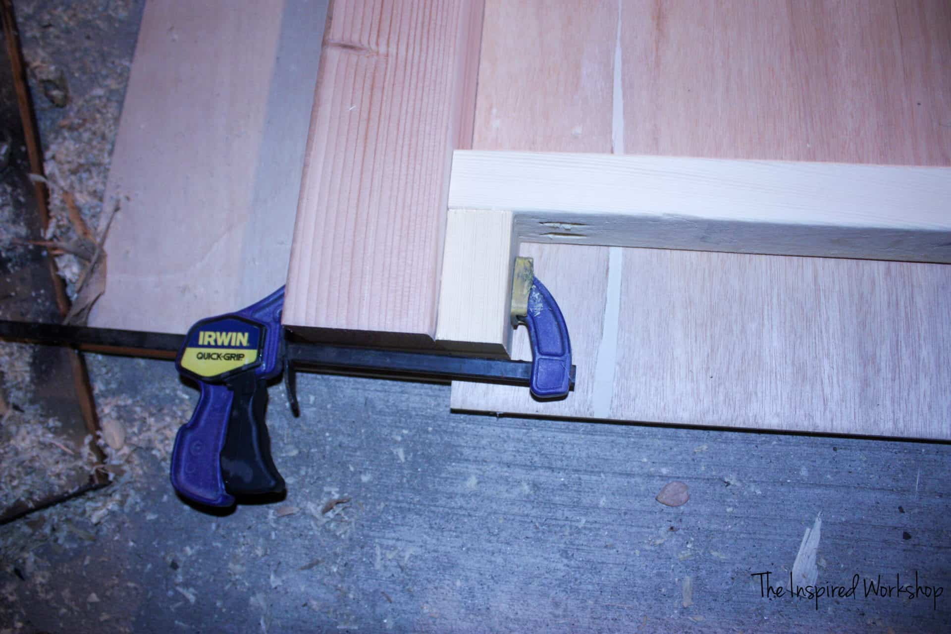 how to build a diy queen bed frame - building the footboard