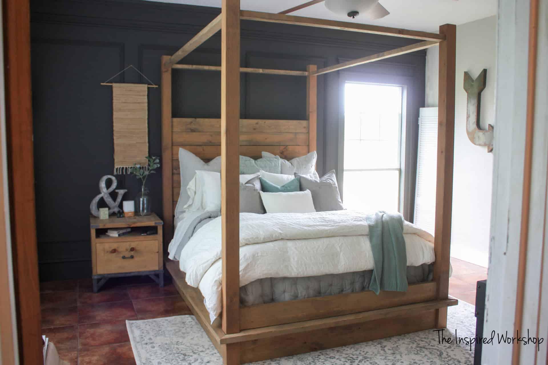 DIY Queen Bed Frame – Restoration Hardware Knockoff