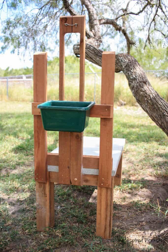 DIY Milk Stand to milk dairy goats