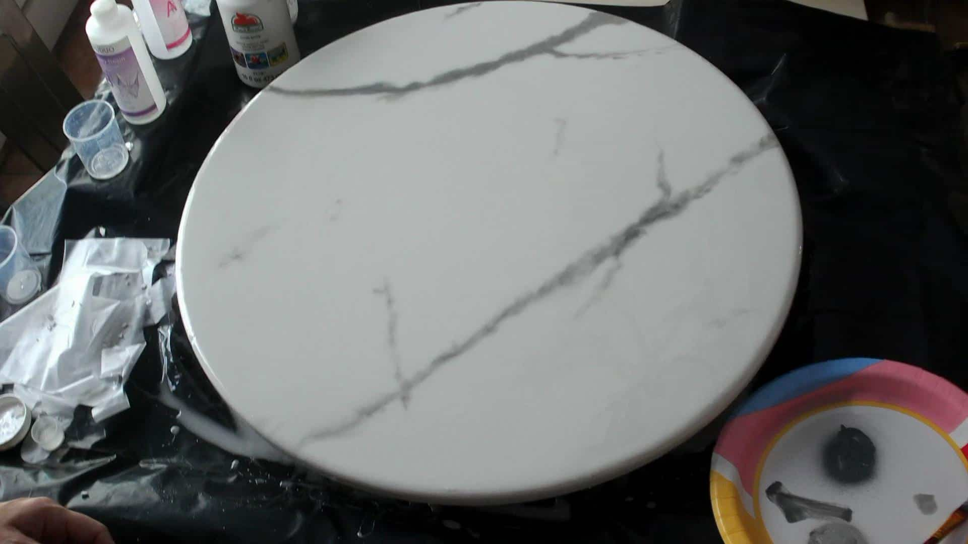 DIY Epoxy Marble Table Top