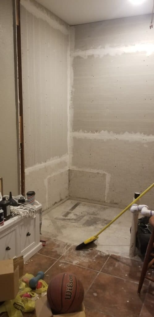 Before photo of the bathroom renovation